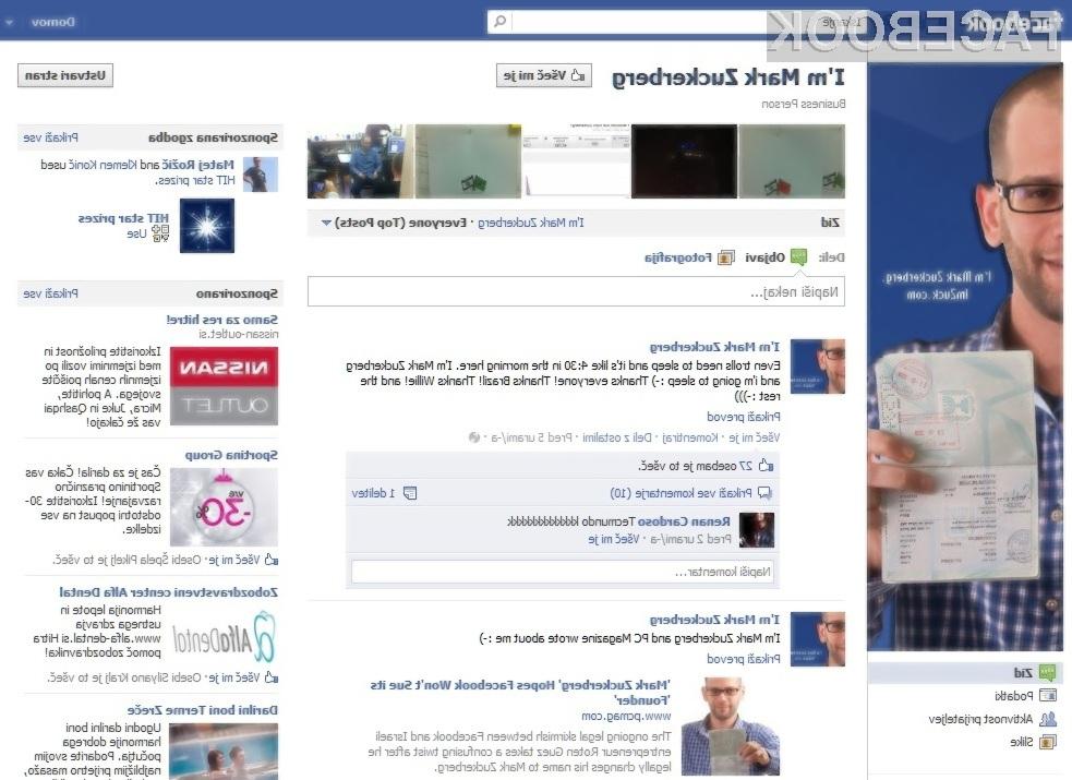 Bo Facebook res tožil Marka Zuckerberga?