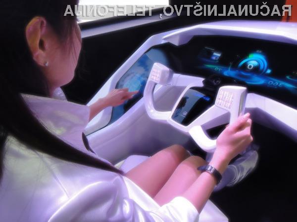 Namesto običajnih stranskih ogledal električni avtomobil  Mitsubishi Electric EMIRAI uporablja kar bočne kamere.