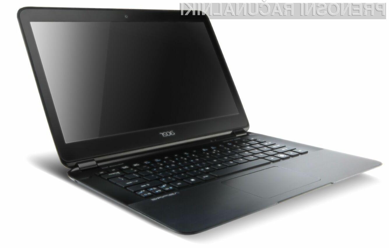 Acer Aspire S5 je 13,3 palčni prenosnik, čigar debelina znaša zgolj centimeter in pol.