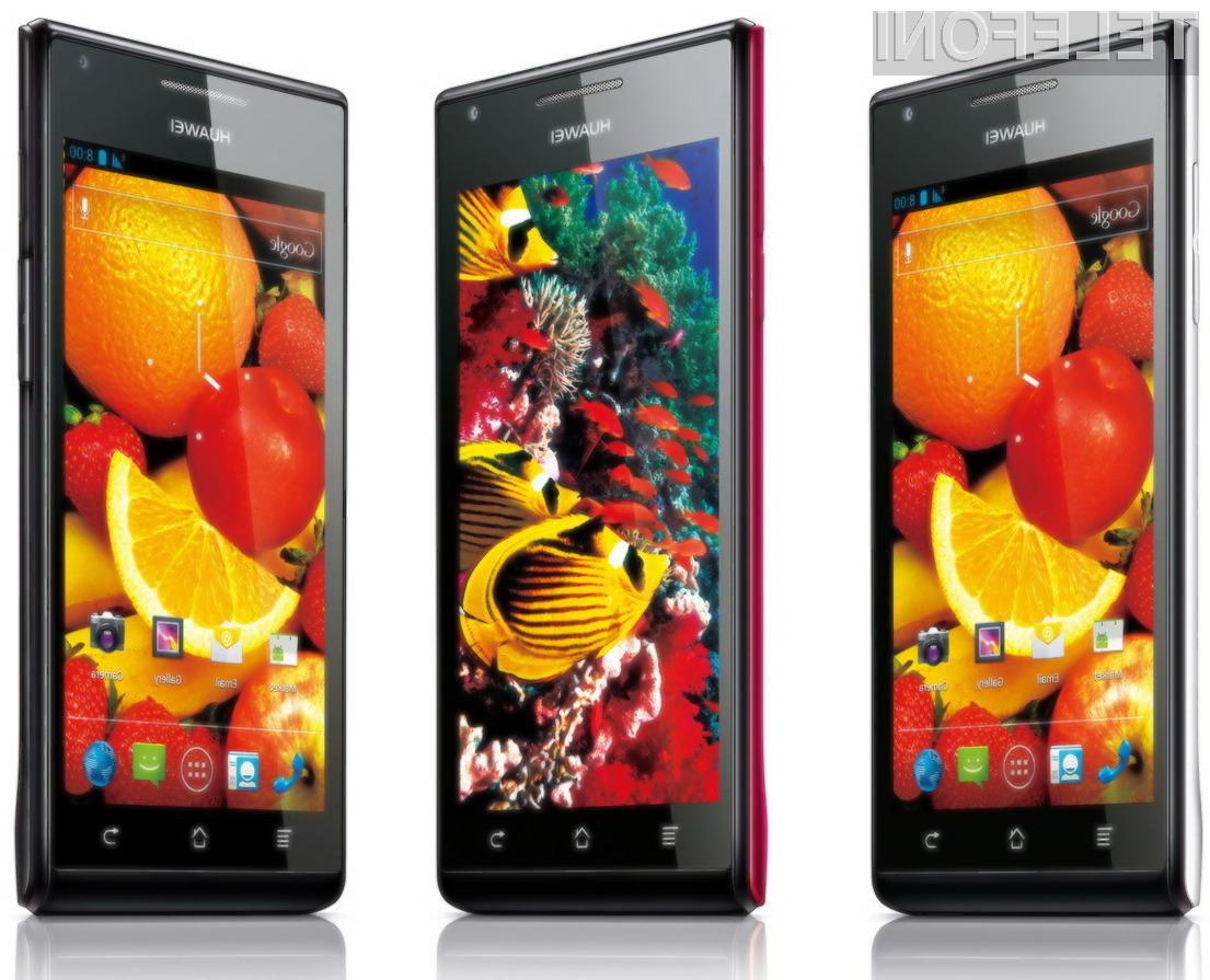 Huawei Ascend P1 S je s 6,68 milimetri trenutno najtanjši pametni telefon na svetu.