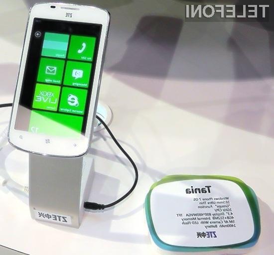 Za pametni mobilni telefon ZTE Tania bo potrebno v prosti prodaji odšteti manj kot 300 evrov!