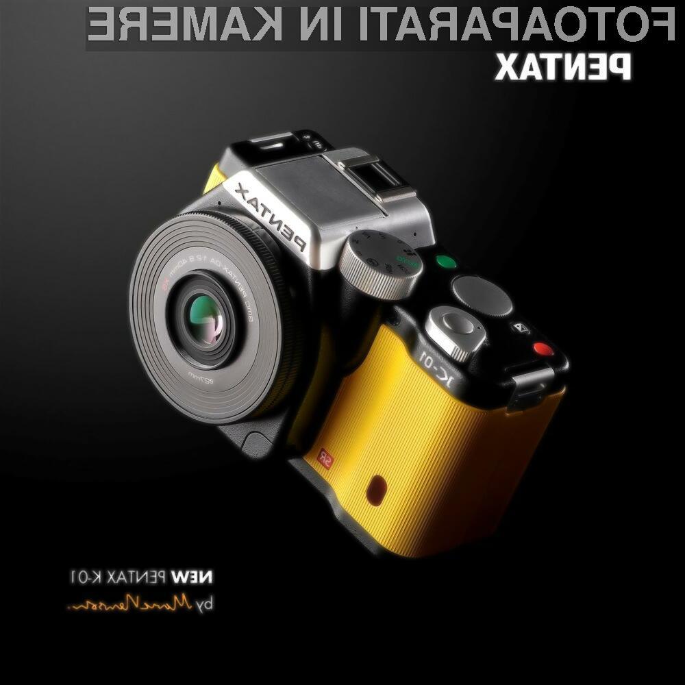 Pentaxox model K-01 je prvi kompaktni fotoaparat, ki nase sprejme objektive namenjene SLR modelom.