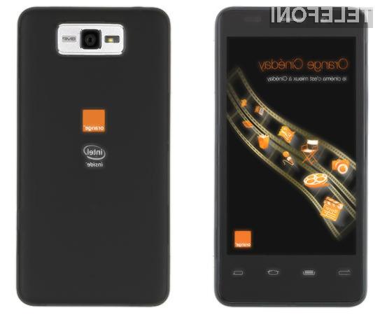 Na Intelovem pametnem mobilnem telefonu bo kakopak nameščen Android 4.0 Icer Cream Sandwich.