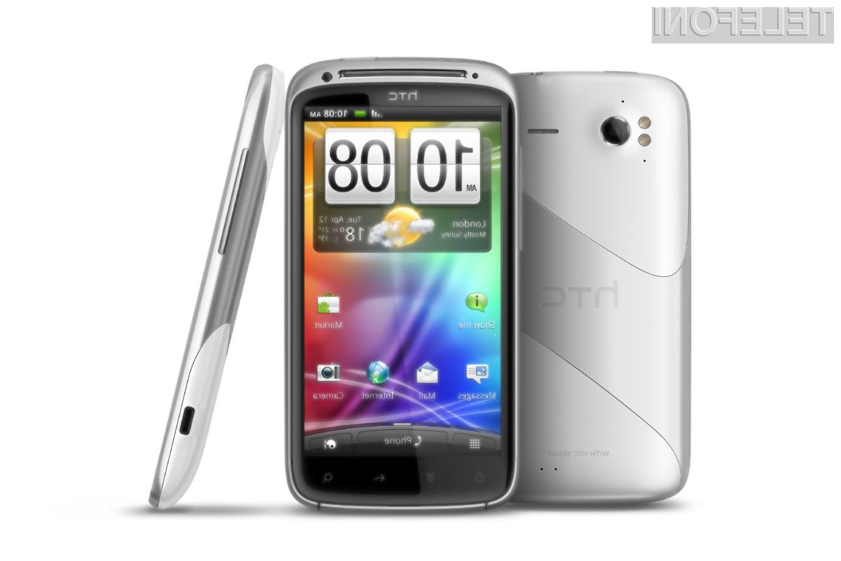 Belo snežna različica HTC Sensation-a, bo na prodajne police prišla šele v marcu.