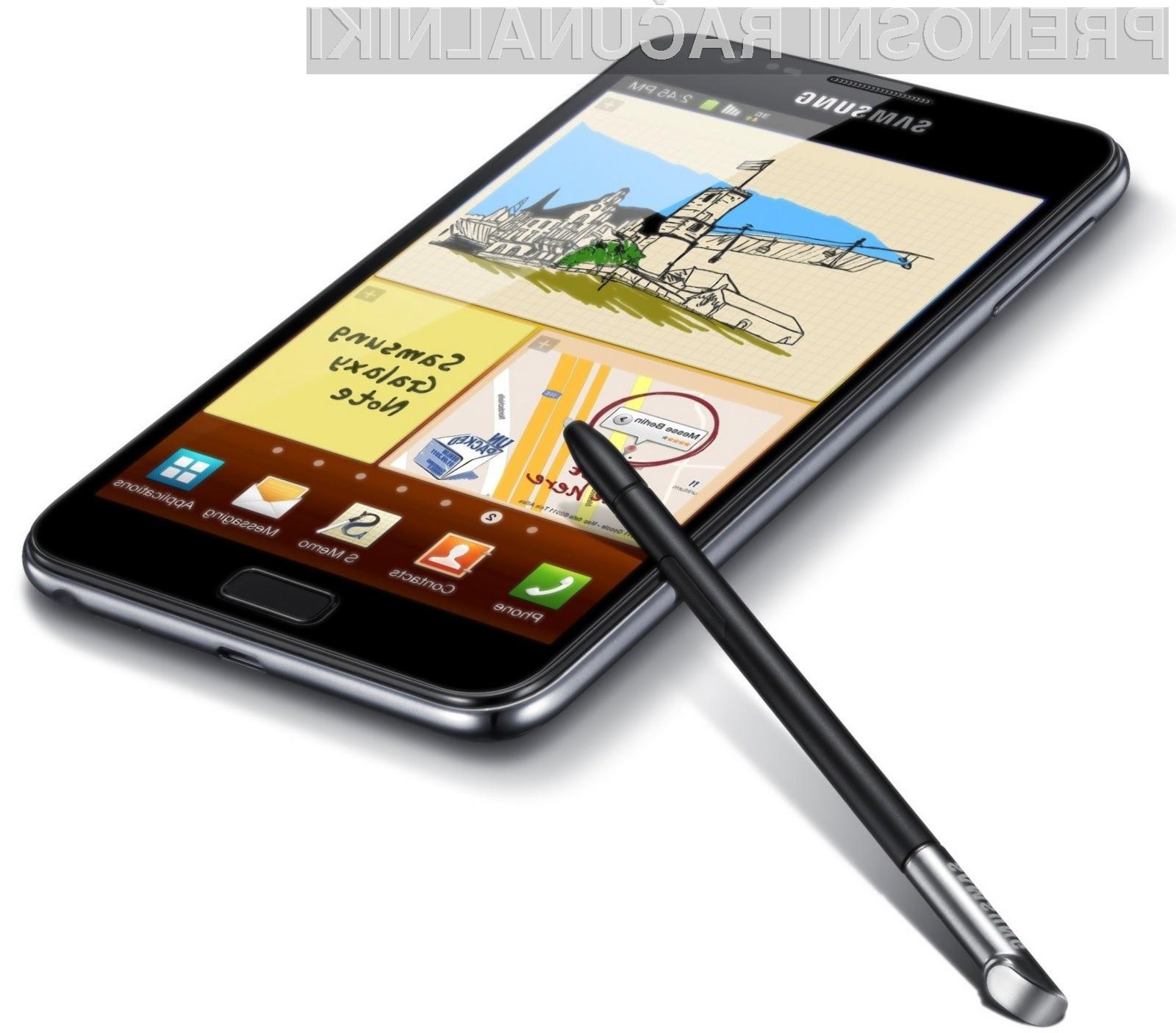 Priljubljenost naprave Galaxy Note je verjetno presenetila tudi podjetje Samsung.