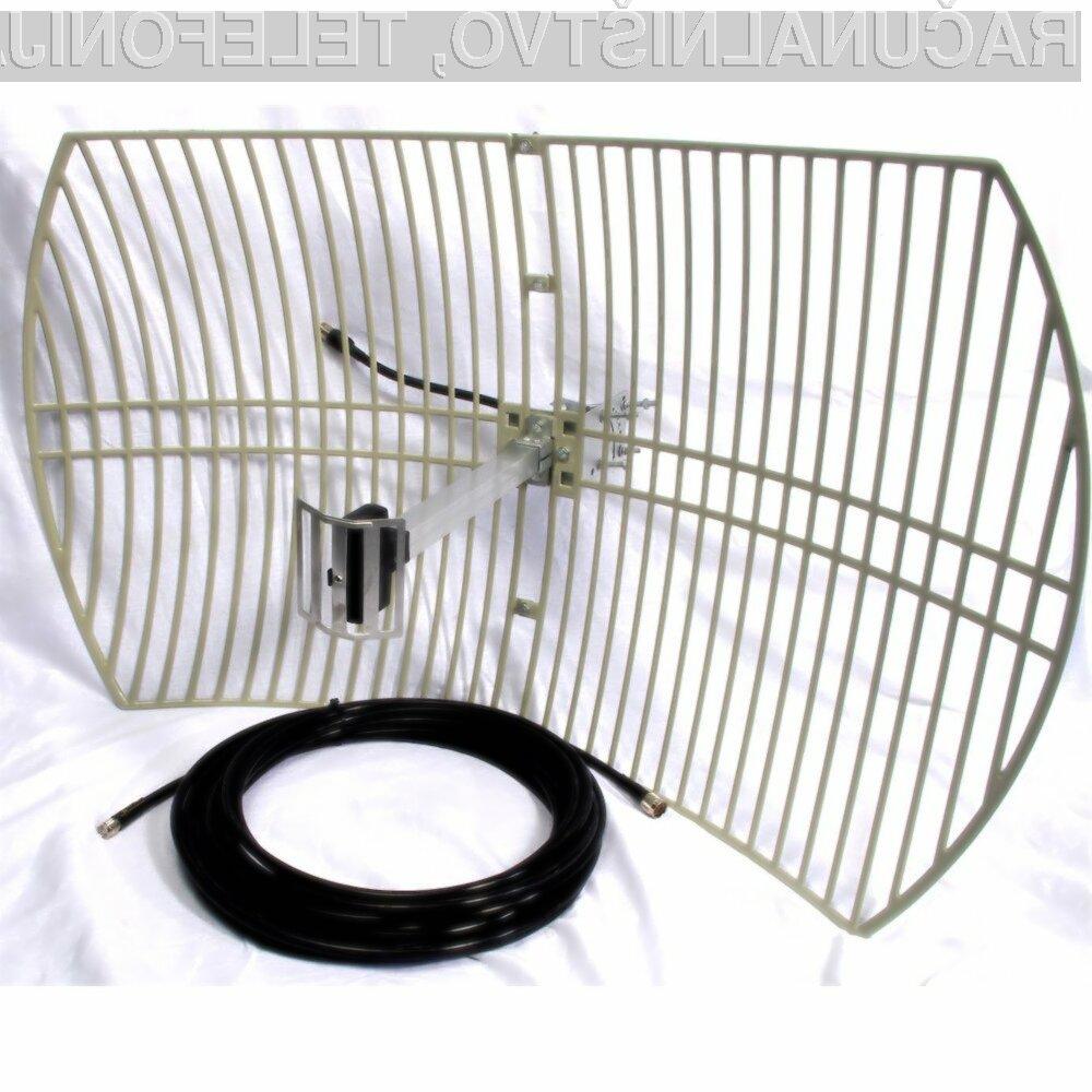 Z doma narejenimi antenami lahko občutno povečamo domet Wi-Fi omrežja.