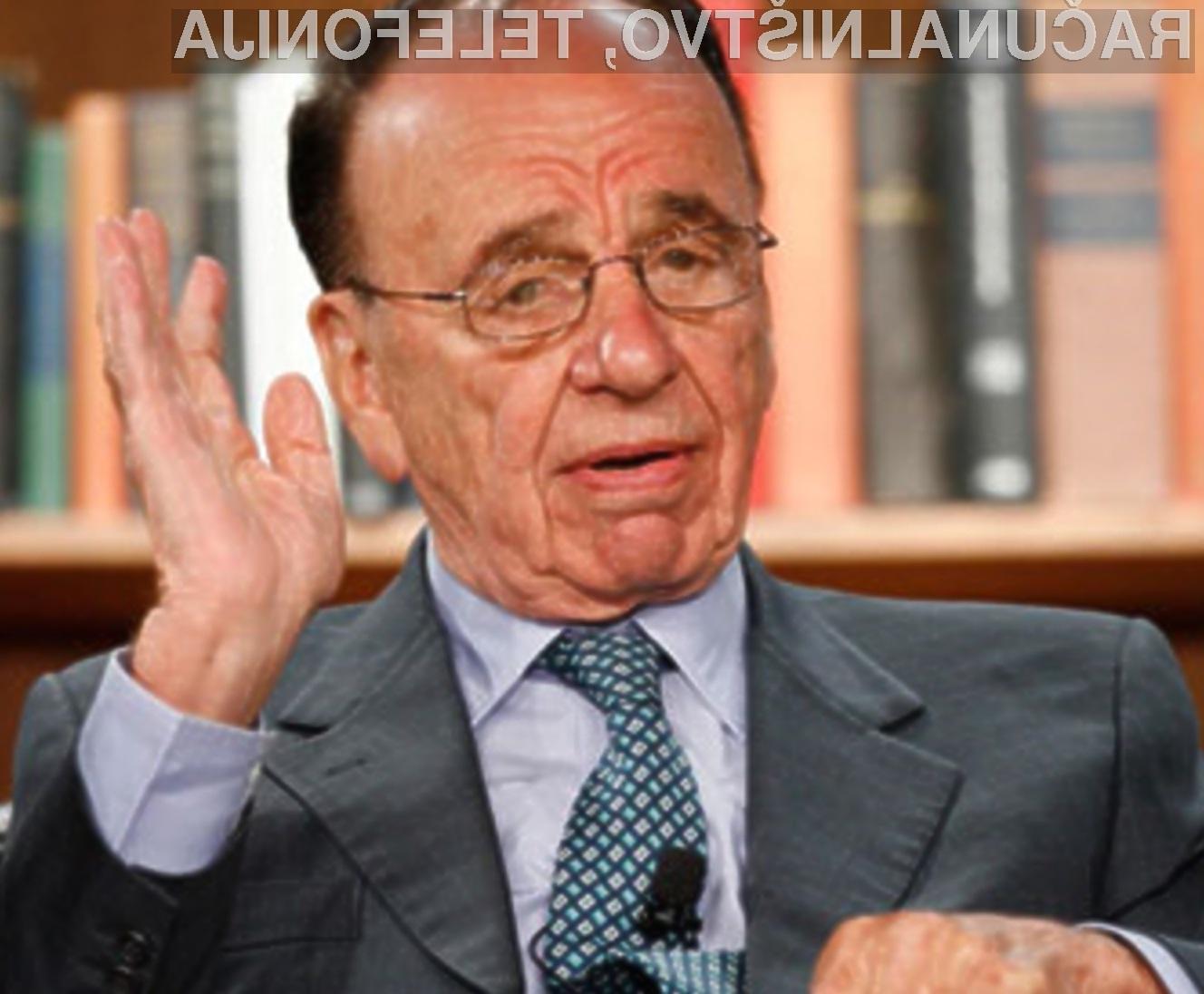 Medijski baron Rupert Murdoch naj bi s pomočjo hekerjev prevzel vodilni položaj na področju britanske plačljive televizije.