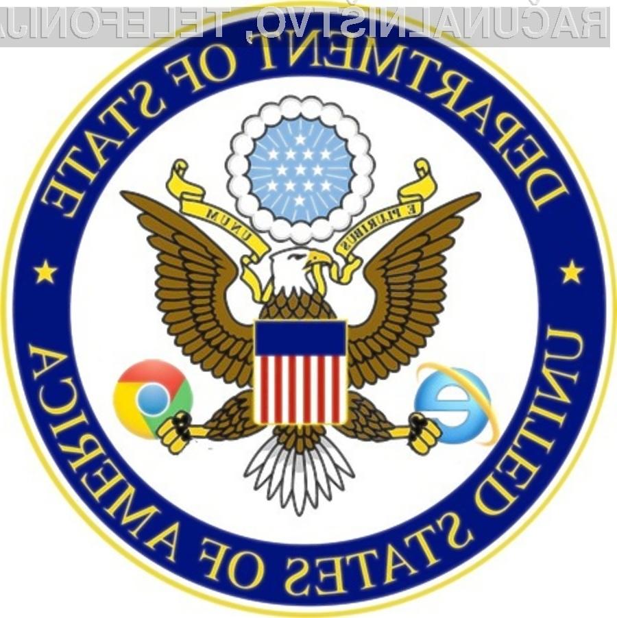 Spletni brskalnik Google Chrome je pridobil zaupanje ameriškega zunanjega ministrstva.