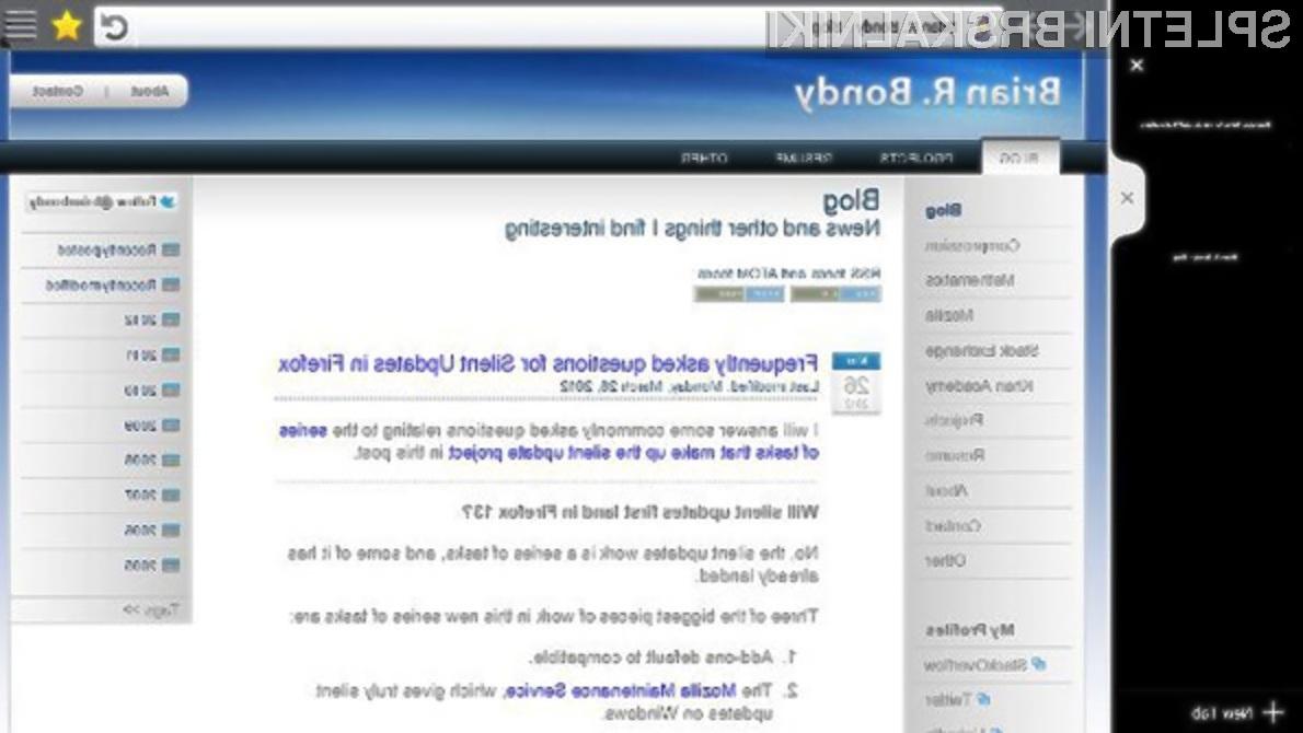 Kako se vam zdi novi grafični vmesnik spletnega brskalnika Firefox?
