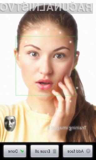 S programom »FaceLock for apps« lahko izbrane aplikacije zaščitimo z našim obrazom.