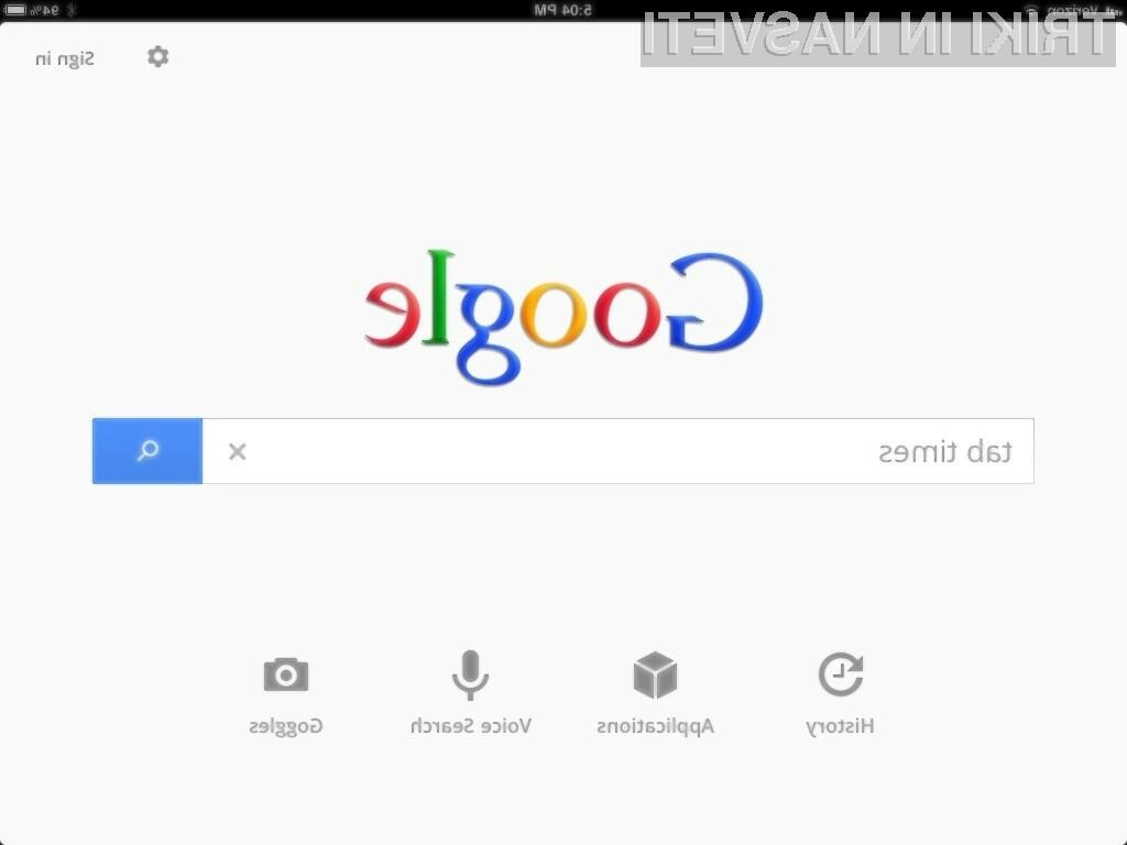 Googlove rezultate iskanja lahko sortiramo tudi po specifičnem časovnem obdobju.