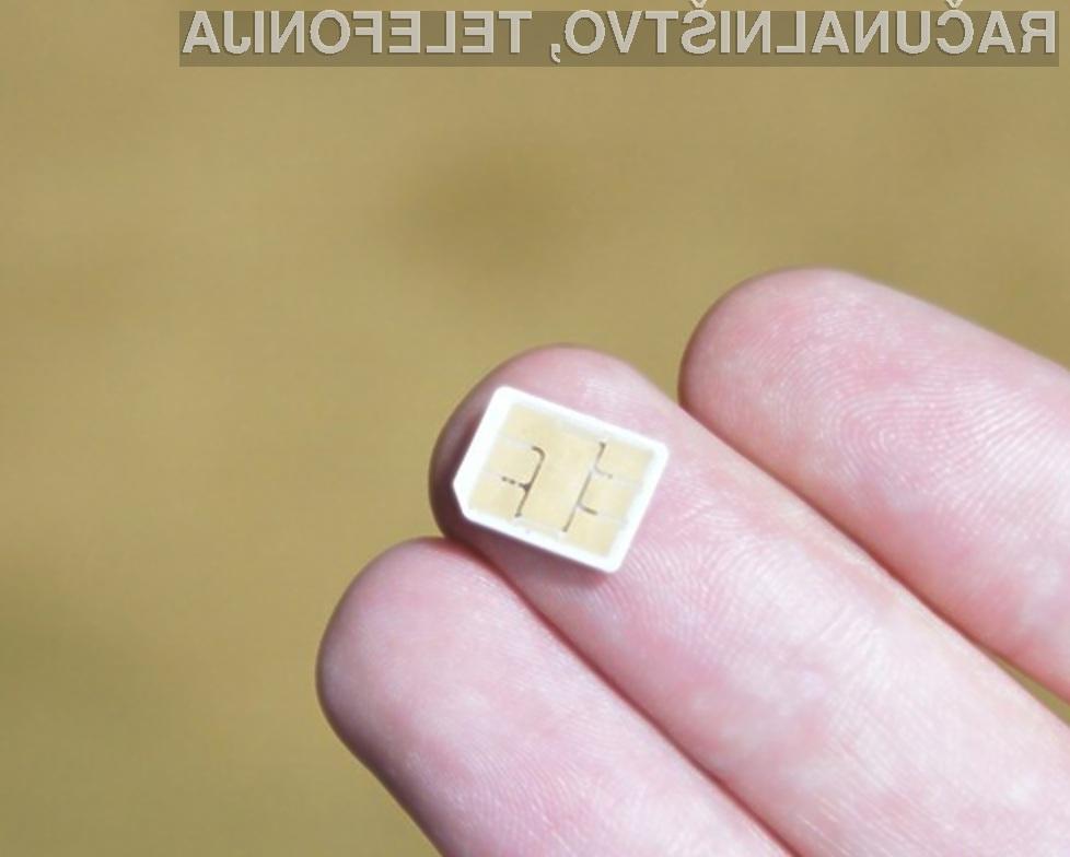 Nove Nano-SIM kartice bodo proizvajalcem mobilnih telefonov omogočile izdelavo manjših naprav.