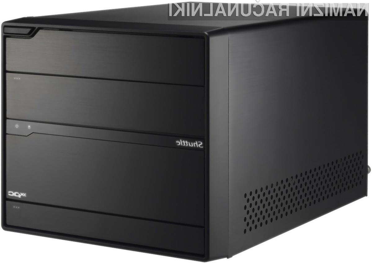 Izredno kompaktno ohišje iz Shuttla je pripravljeno za zmogljive procesorje in grafične kartice.