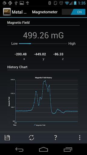 Mobilnik Android se več kot odlično znajde v vlogi detektorja kovin.