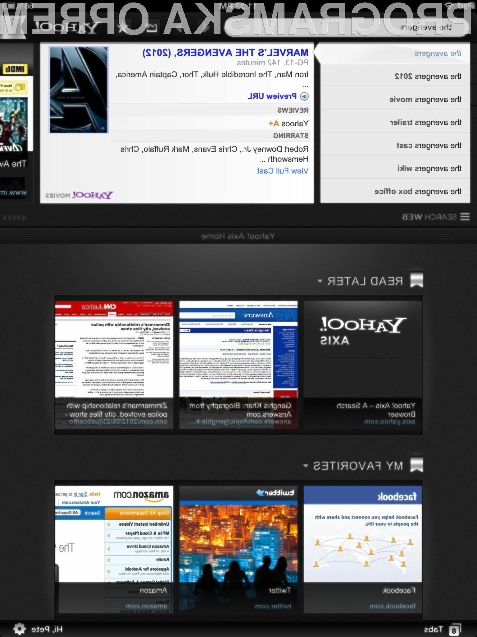 Yahoojev Axis spreminja način brskanja, ki smo ga poznali do sedaj.
