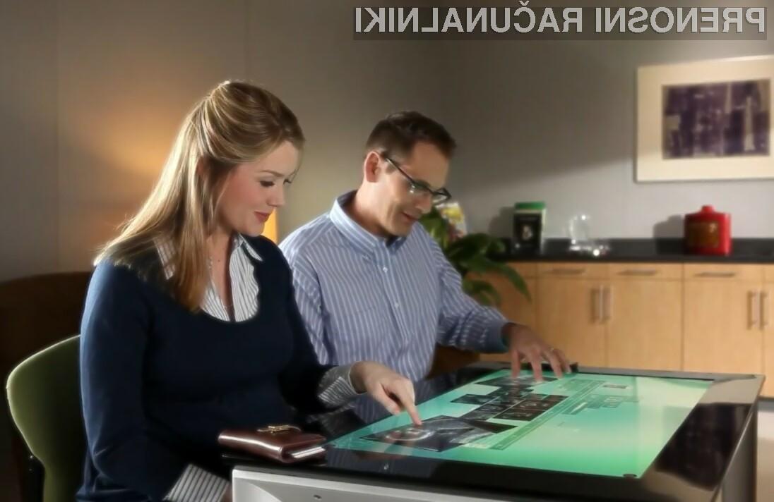 Pametna miza Samsung SUR40 s tehnologijo Microsoft PixelSense navdušuje v vseh pogledih!