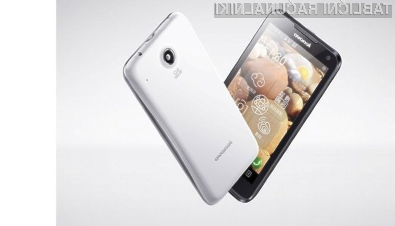 Mobilnik Lenovo LePhone S880 odlikujeta velik zaslon in nizka cena.