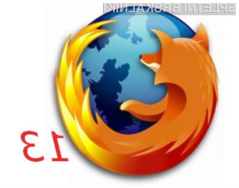 Brskalnik Mozilla Firefox 13 je v primerjavi s predhodnikom hitrejši in uporabnejši!
