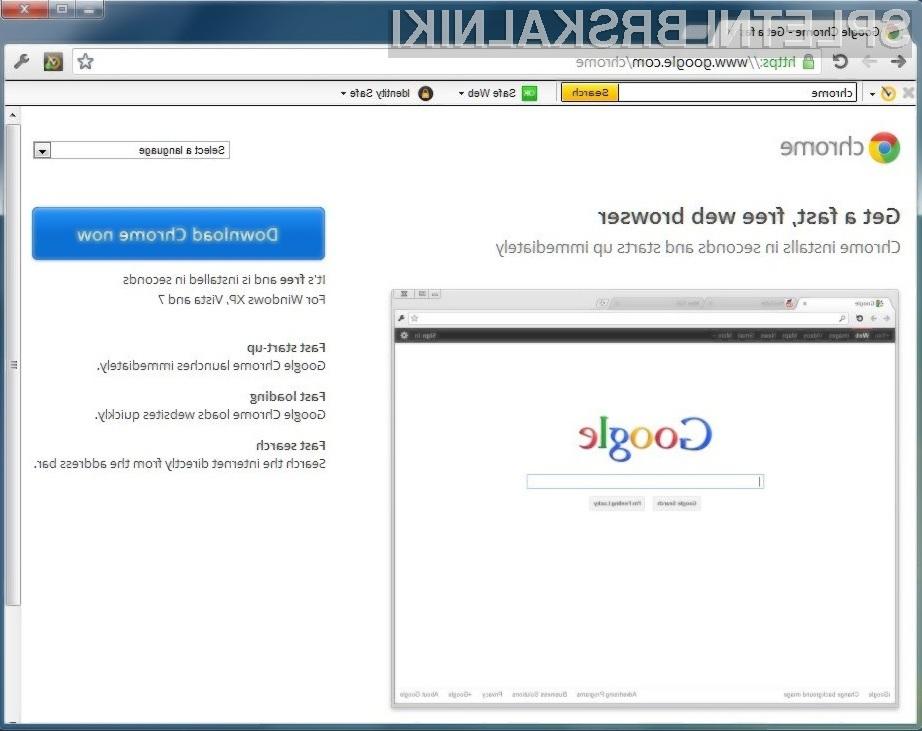 Spletni brskalnik Google Chrome 20 vas bo le stežka razočaral!