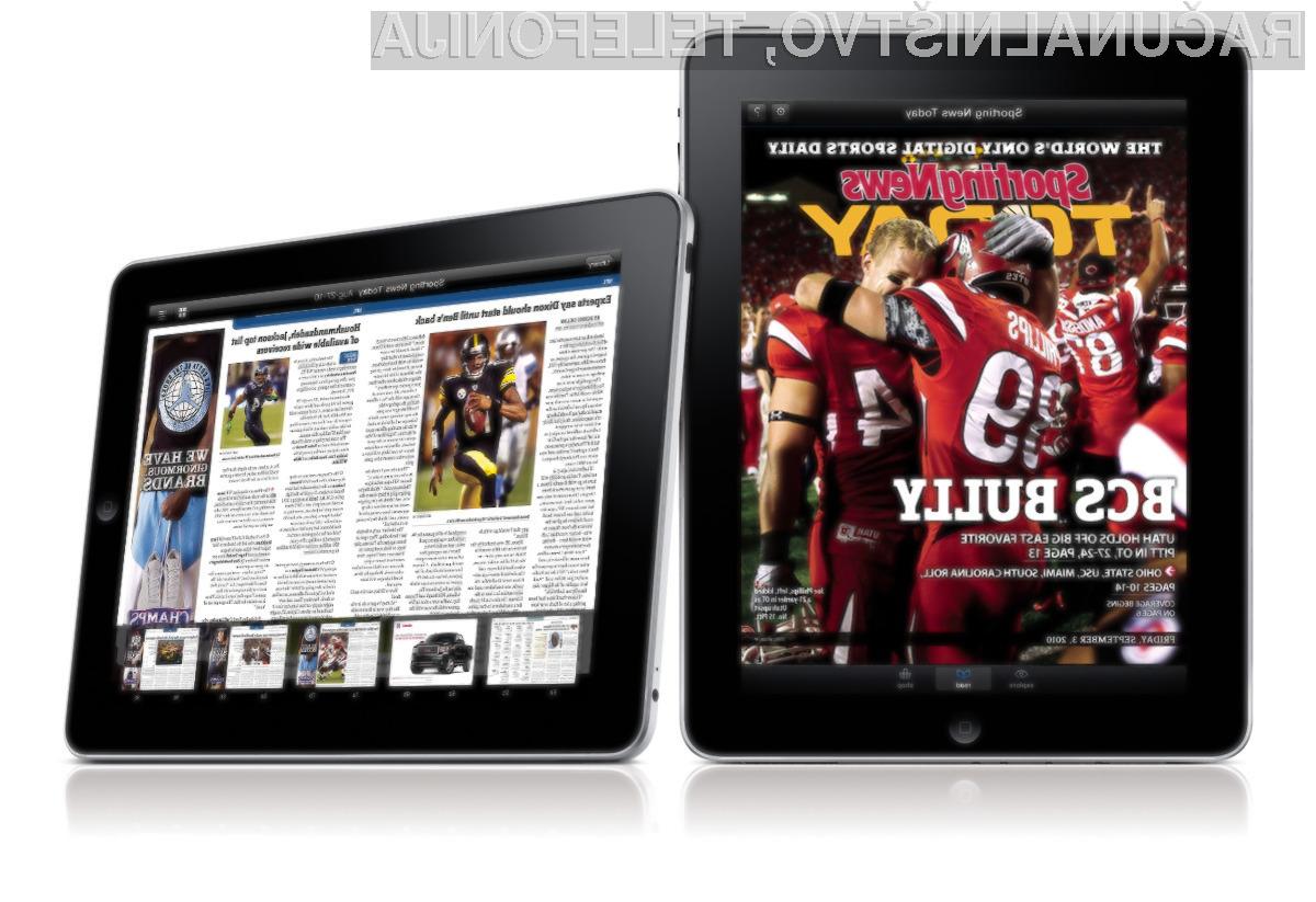 Odrasli Američani za zdaj še vedno največkrat posežejo po tablicah iPad.