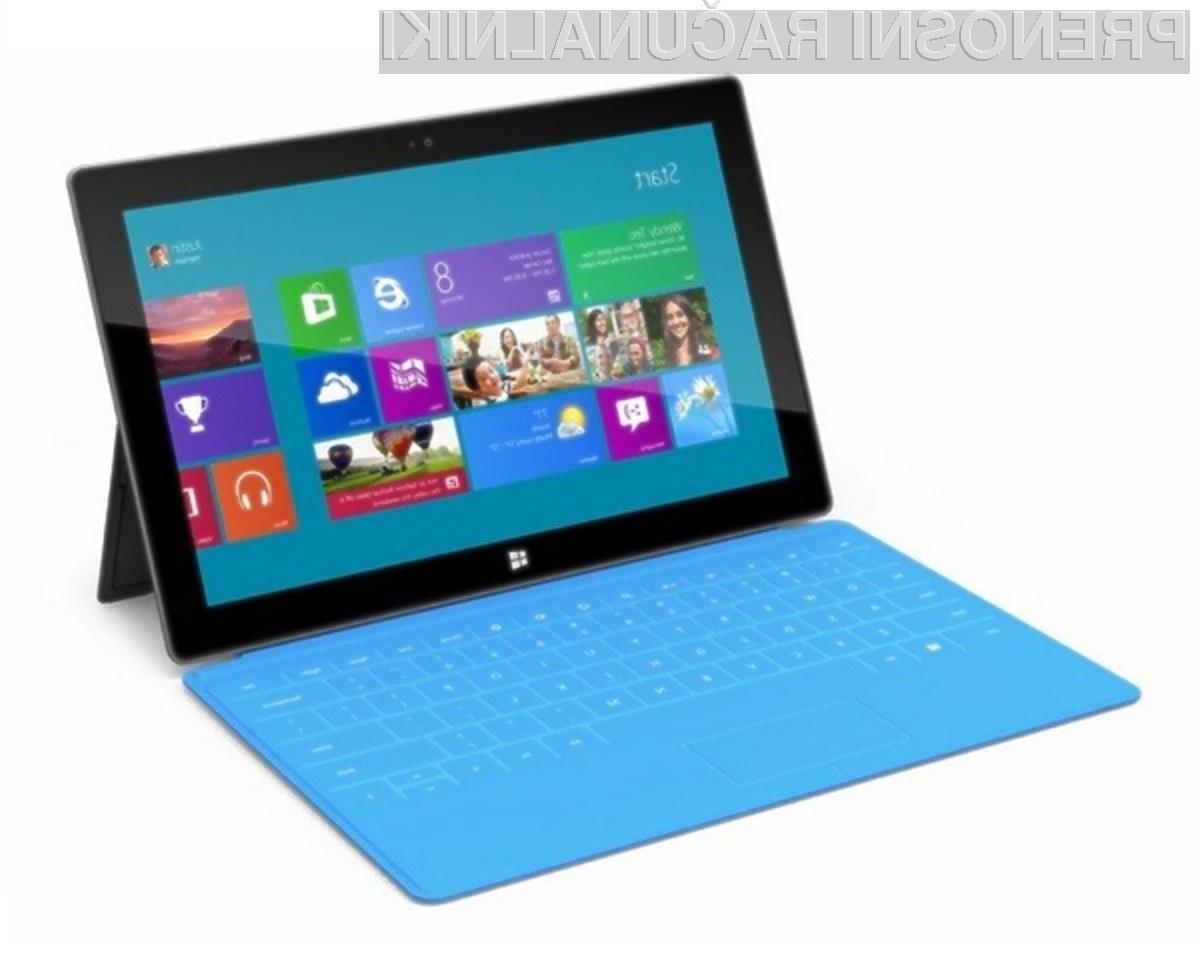 Na trgu bomo očitno našli le peščico ponudnikov tabličnih računalnikov z operacijskim sistemom Windows 8 RT.