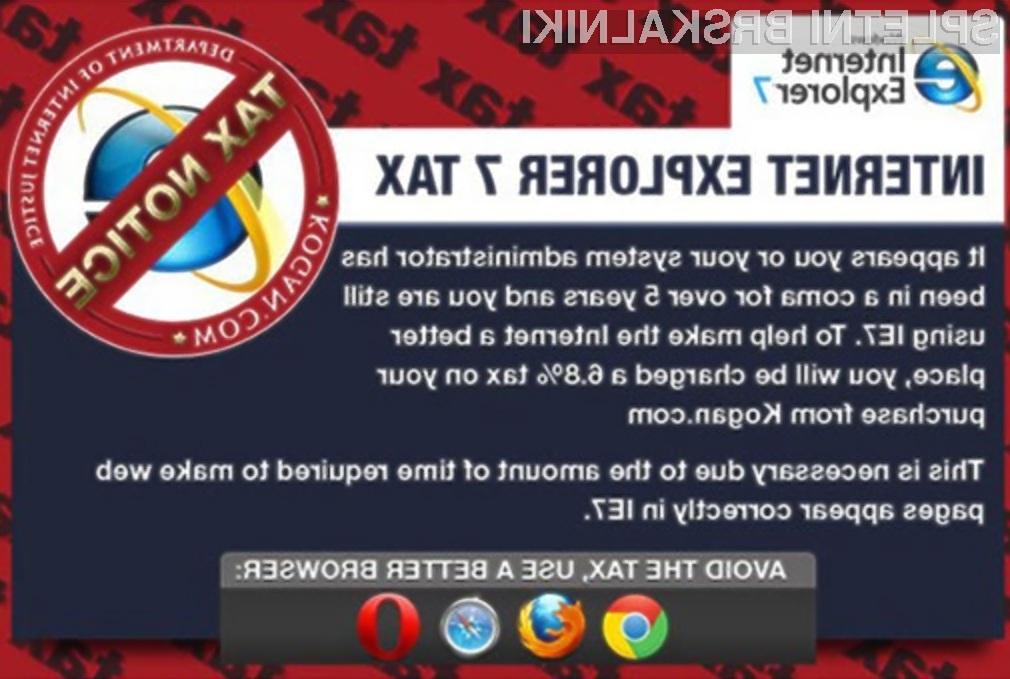 Uporaba zastarelih brskalnikov spletnim trgovinam povzroča veliko nepotrebnih stroškov!