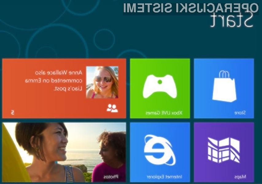 Microsoft 8 bo grafične oblike preračunaval kot za stavo!