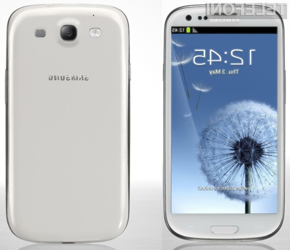 Samsung Galaxy S III je trenutno najbolj iskan Samsungov pametni telefon.