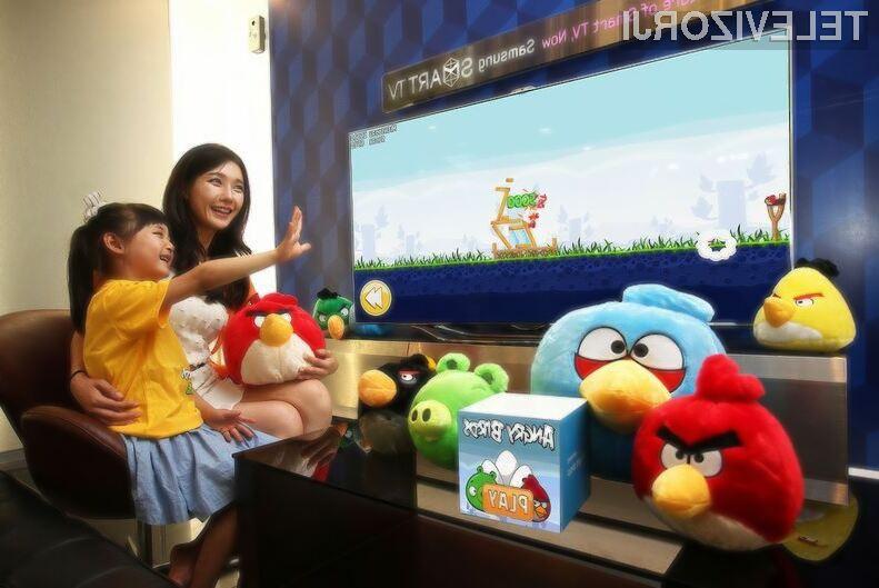 Računalniška igra Angry Birds se odlično prilega Samsungovim pametnim televizorjem!