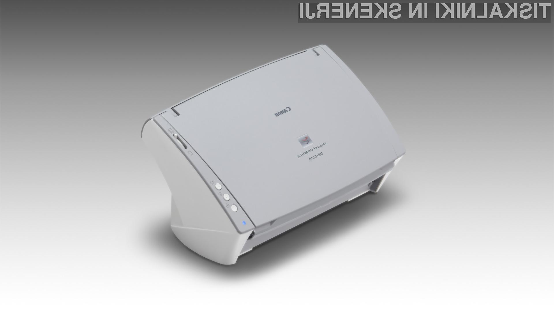 Canon Europe je predstavil imageFORMULA DR-C130, vsestranski in kompakten namizni optični bralnik dokumentov, opremljen s celovito programsko opremo za profesionalno skeniranje dokumentov.