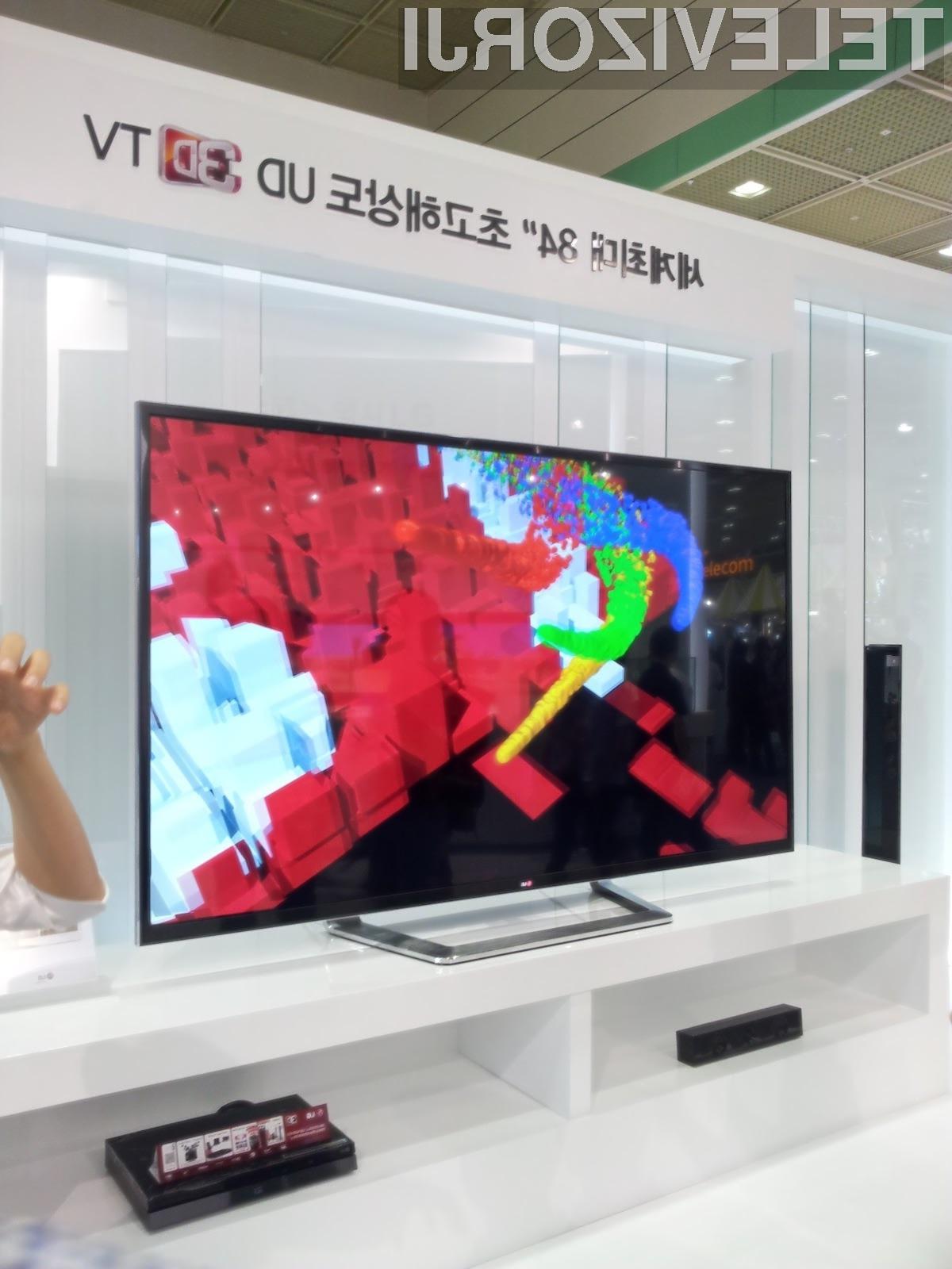 Največji 3D televizor na svetu bo končnim kupcem na voljo še v tem mesecu.