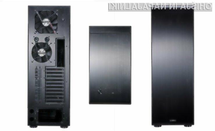 Računalniško ohišje PC-X2000FN je za EATX format precej plitvo, visoko in razmeroma ozko.