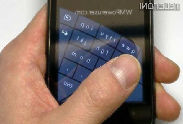 Nova tipkovnica naj bi bila na voljo v novem mobilnem operacijskem sistemu Windows Phone 8.