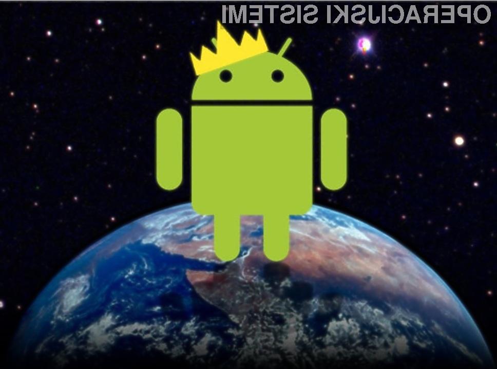Android je med uporabniki storitev mobilne telefonije zdaleč najbolj priljubljen mobilni operacijski sistem!