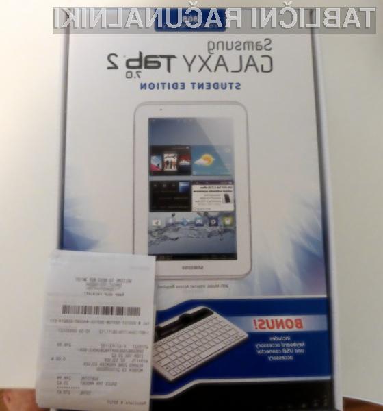 Tablični računalnik Samsung Galaxy Tab 2 7.0 »Student Edition«: Vse kar študent potrebuje za študij in prosti čas!