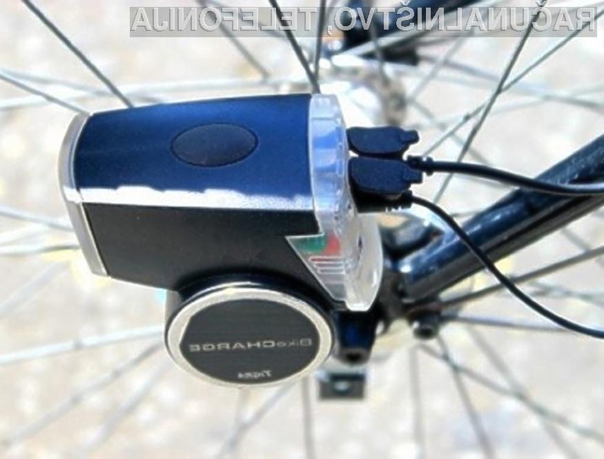 Vožnja s kolesom in dinamom BikeCharge Dynamo bo izboljšala vaše zdravje in hkrati napolnila vašo mobilno napravo.
