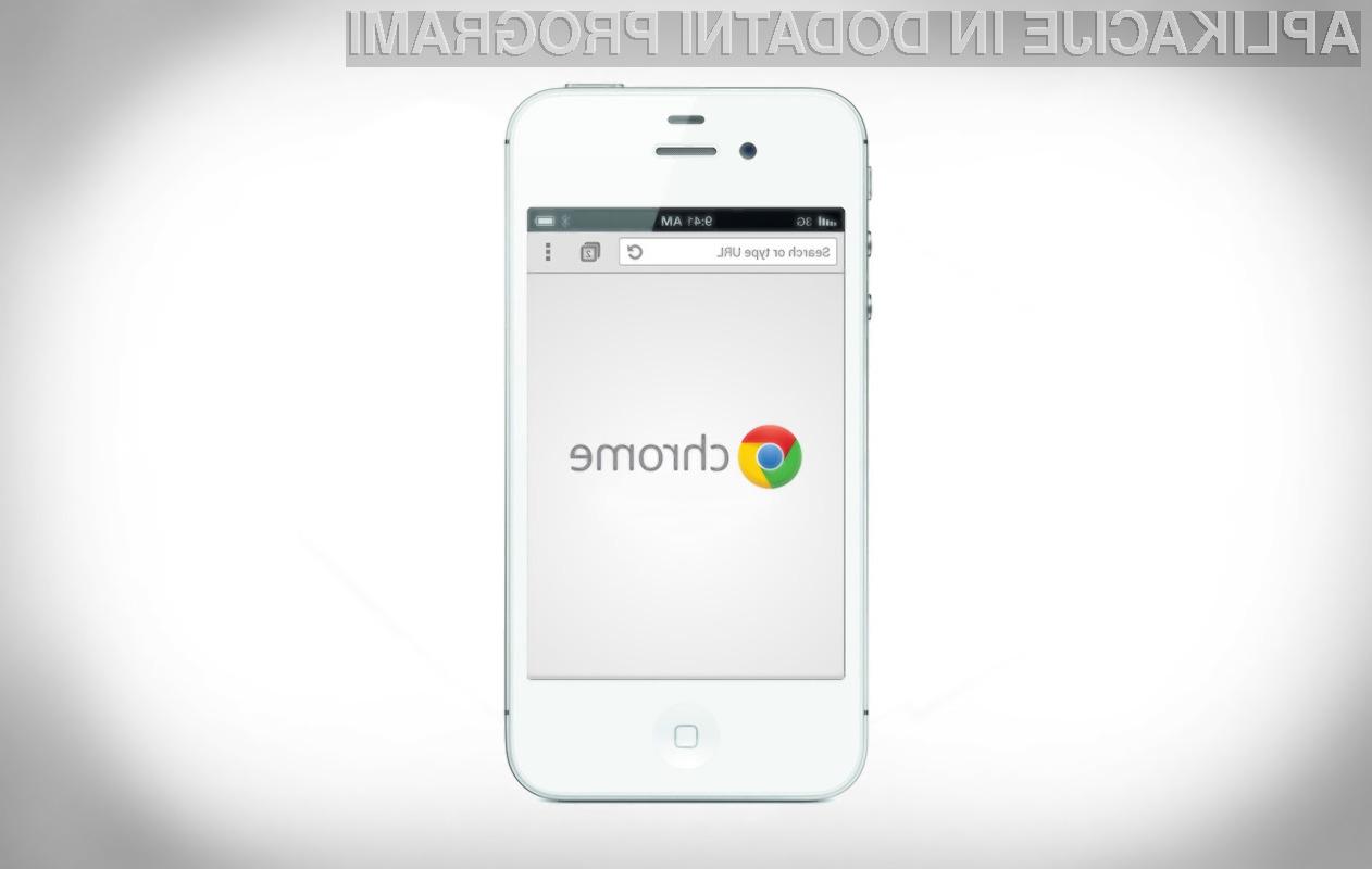 Posodobljeni Chrome za iOS