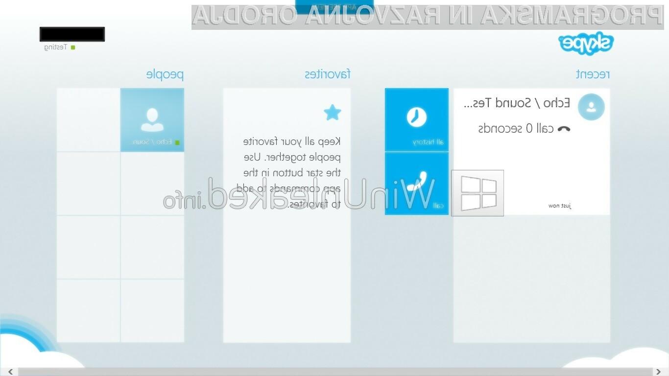 Novi Skype se bo sklada s podobo novega operacijskega sistema Windows 8.