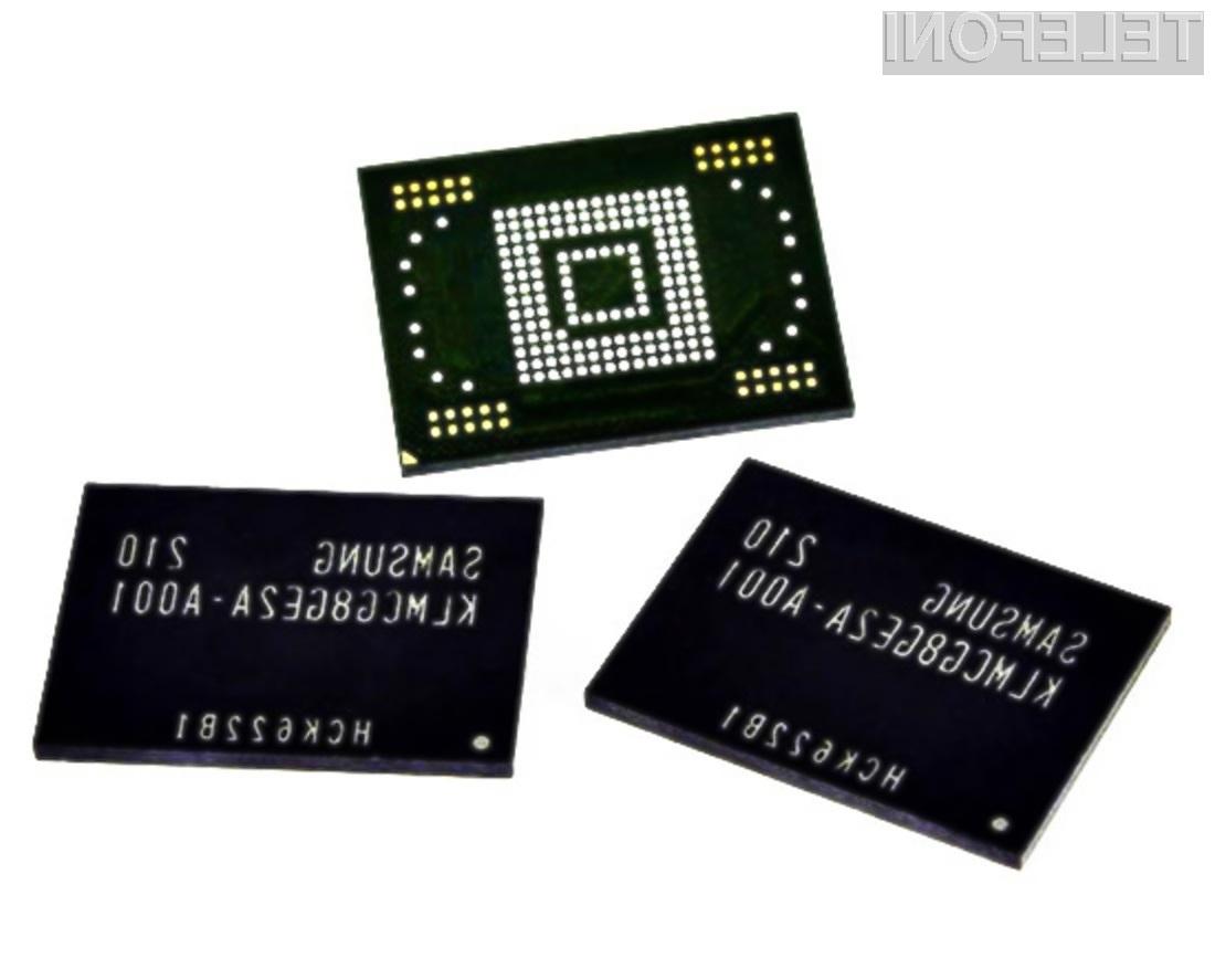 Pomnilniki Samsung eMMC Pro Class 1500 bodo znatno pohitrili tako pametne mobilnike kot tablične računalnike.