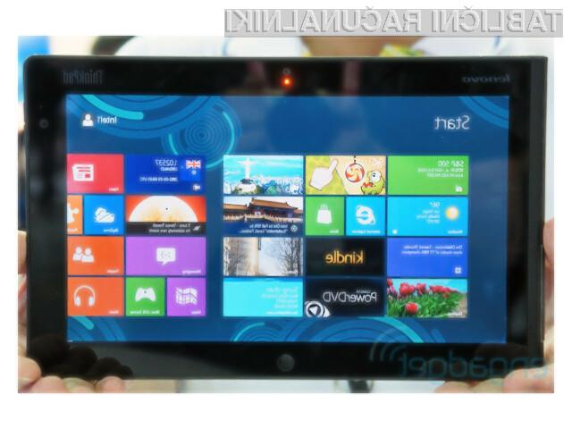 ThinkPad Tablet 2 z operacijskim sistemom Windows 8 bo v prvi vrsti namenjen poslovnim uporabnikom.