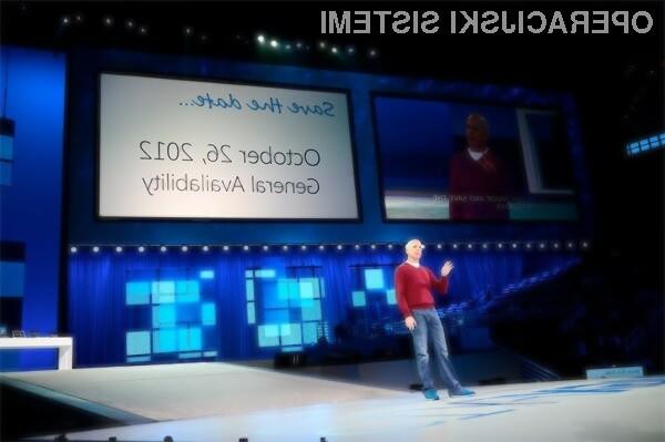 Windows 8 bo v prosti prodaji na voljo šele 26. oktobra.