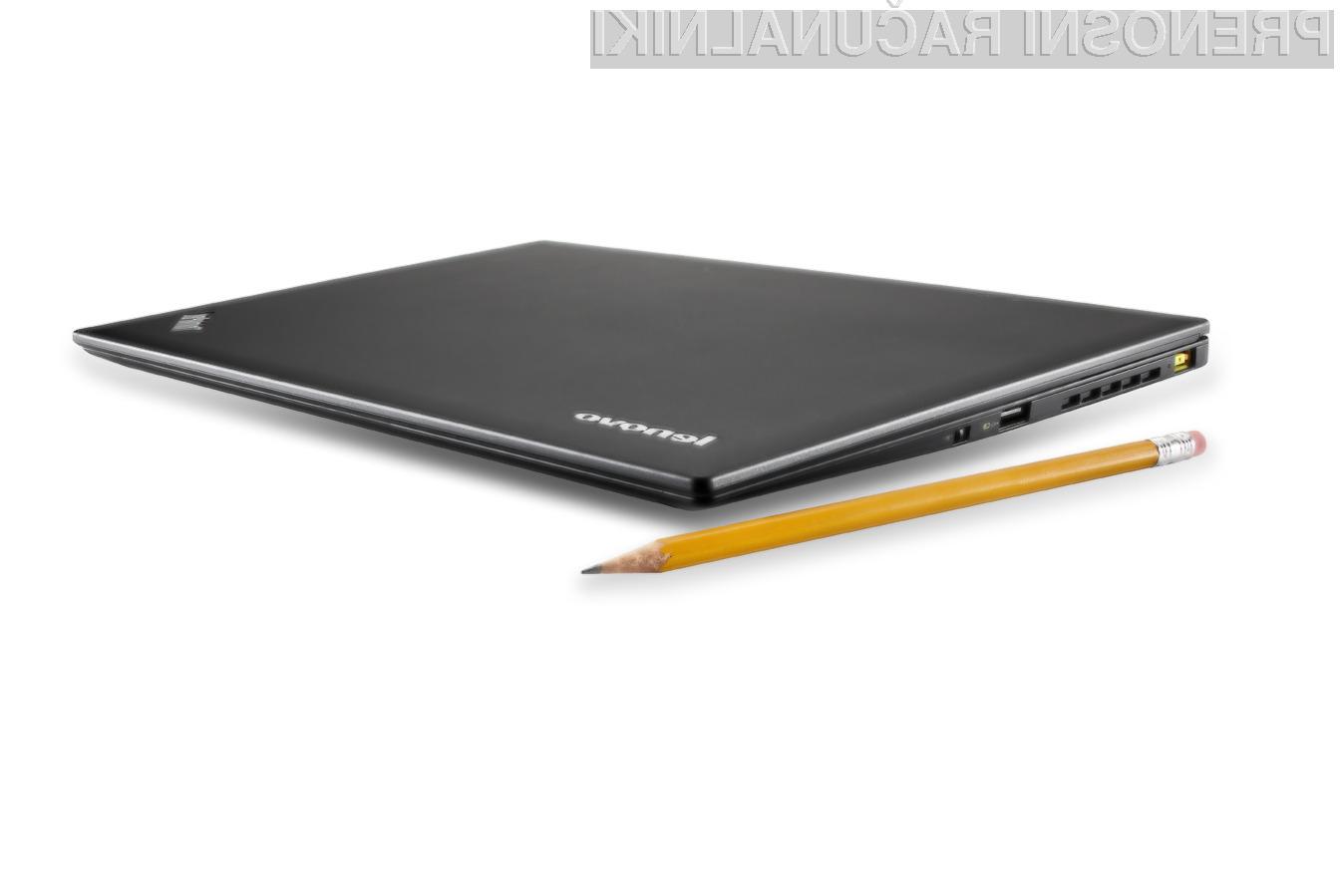 ThinkPad X1 Carbon je najlažji 14 palčni prenosnik na svetu.