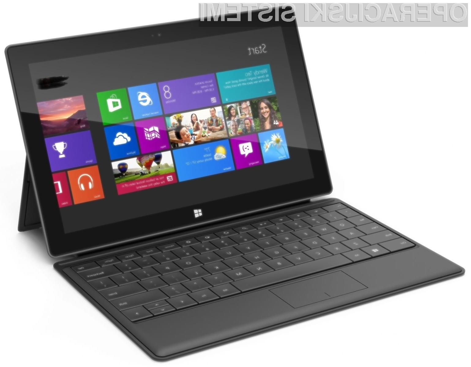 Tablični računalniki z Windowsi 8 naj bi zaradi visokih cen šli zelo slabo v prodajo!