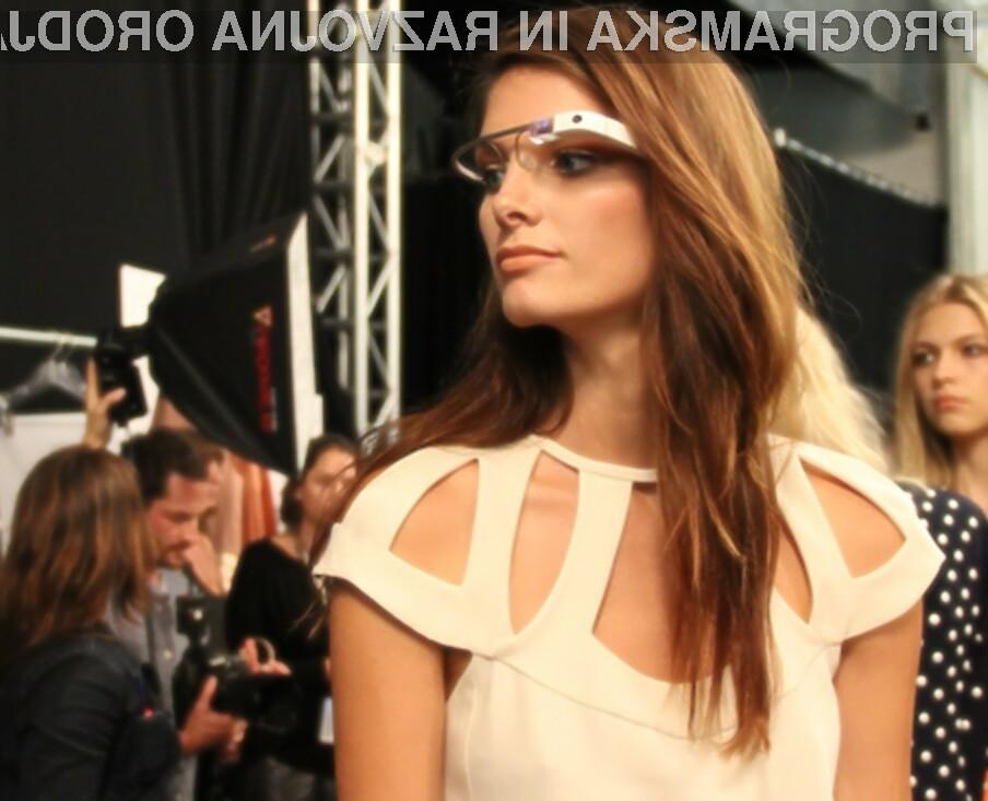 Očala Google Glass na modni pisti