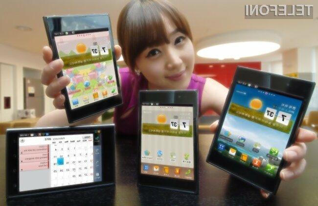 LG Optimus Vu II se po obliki precej razlikuje od Samsungovega Galaxyja Note II.