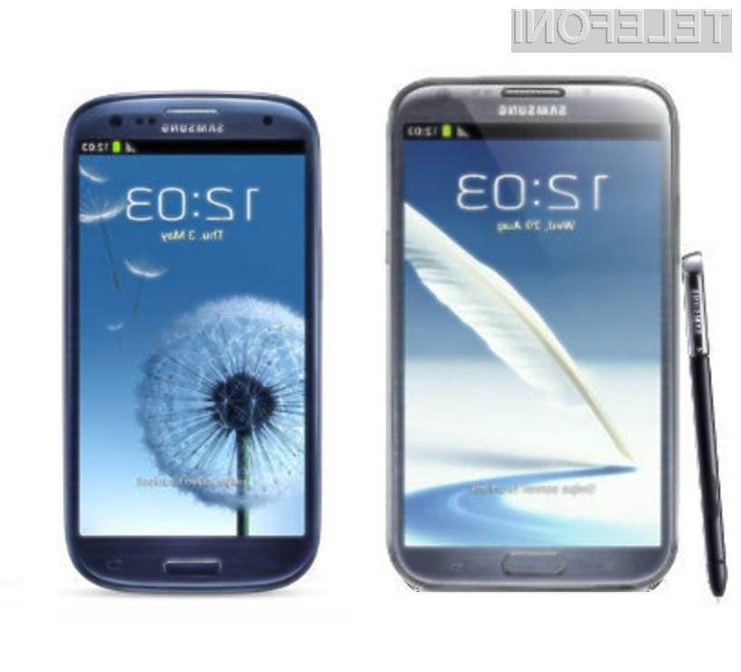 Pametnemu mobilnemu telefonu Samsung Galaxy Note 2 bo le stežka zmanjkalo sape!