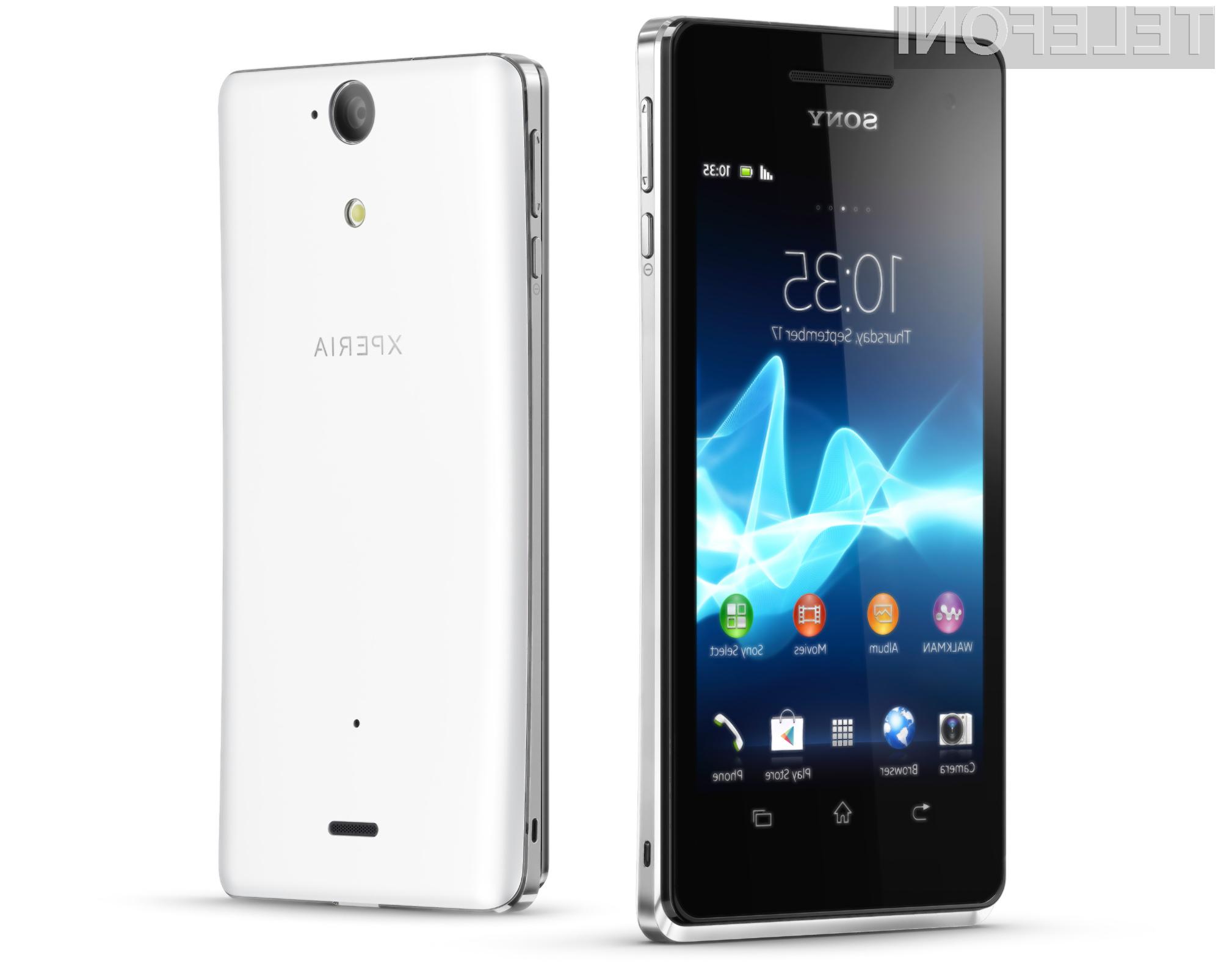 Sony Xperia V bo opremljena s posebno tehnologijo