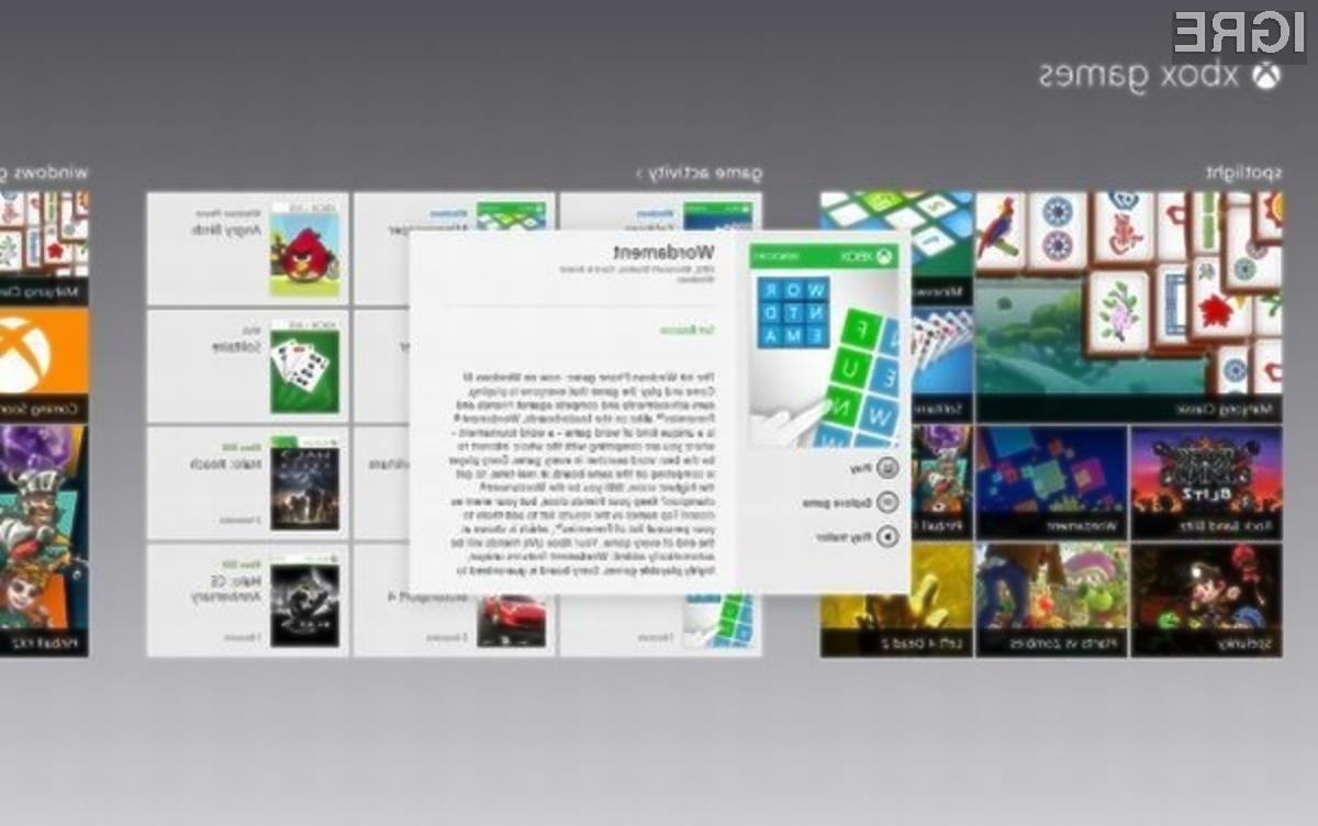 Operacijski sistem Windows 8 bo pisan na kožo ljubiteljem spletnih računalniških iger!