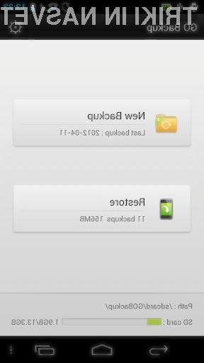Brezplačna različica aplikacija za izdelavo varnostnih kopij GO Backup Pro se je izkazala za zelo zanesljivo in učinkovito.