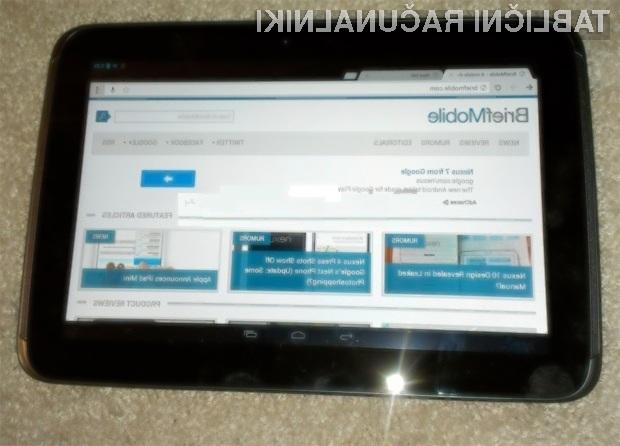 Tablica Google Nexus 10 bo zagotovo šla v prodajo kot za stavo!